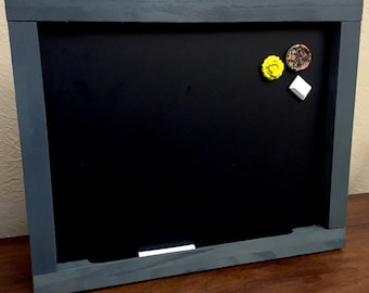 "Magnetic Chalkboard Message Center Bulletin 20""x26"""
