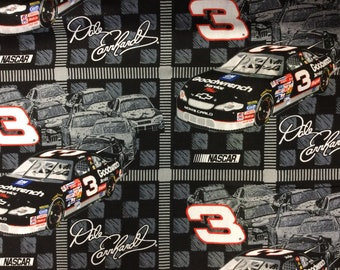 Dale Earnhardt/ Nascar/Cotton Fabric/ Sold By The Yard
