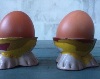 Egg Holder Set of two hamd made ceramic egg holders