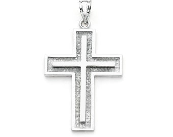 14K White Gold Cross Pendant, Cross Pendant, Cross Jewelry, Gold Cross, Religious Jewelry, Religious Pendant, Christian Jewelry
