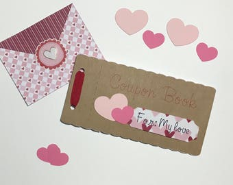 Valentine's Personalized Gift / Love Coupon Book / Valentine's Day Coupon / Valentines Blank Coupons/ Gifts for her/ Gifts for him