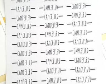 Cancelled planner stickers - Gift for her - Daily Planner - Filofax -Erin Condren - Happy Planner - Reschedule - Christmas Gift