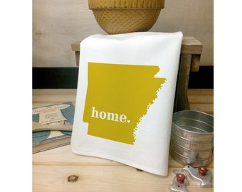 Arkansas State Flour Sack Towel,  Arkansas State Tea Towel, Arkansas Decor, Flour Sack Tea Towel, Mother's Day Gift, Wedding Gift, State Art