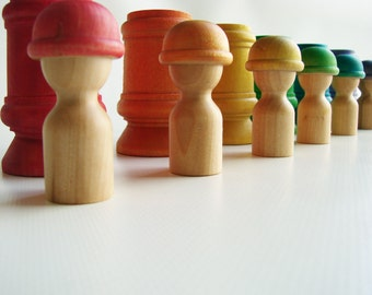 Hide N Seek Neighborhood - Montessori Wooden Toy