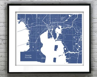 Gulf Shores Alabama Blueprint Map Poster Art Print - Several Sizes Available Item T1044