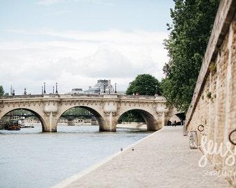 Paris Photography, Large Wall Art Print, Effeil Tower, Paris Decor, Romantic Art Print, Fine Art Photography - Parisian Bridges