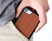 iPhone 8 Wood Case, Rosewood iPhone 8 Case, iPhone 7 Wooden Case - SHK-R-I8