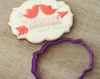 Plaque cookie cutter #08