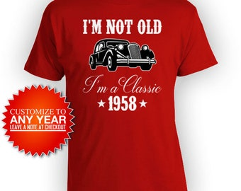 Quick View More Colors Funny Birthday Shirt 60th Bday T Custom Gift Ideas For Men Car