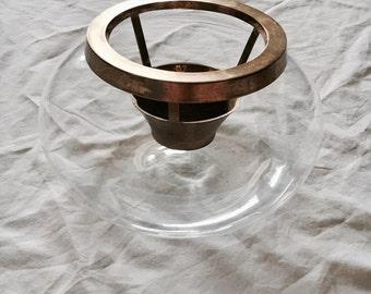 Vintage 1995 Ambrosia Glass Terrarium
