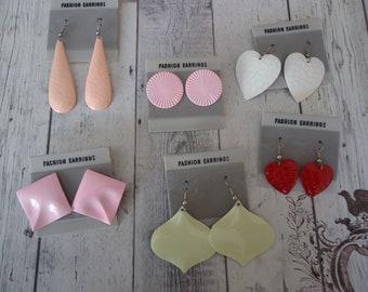 6 paire de mixte New Old Stock percé poste et fil Costume/Fashion Boucles d'oreilles sur des cartes