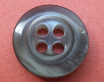 10 small buttons 13mm grey (1151) button