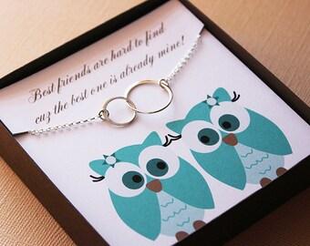 Best friend necklace best friend gift