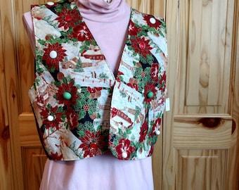 Vest, Button Christmas Vest
