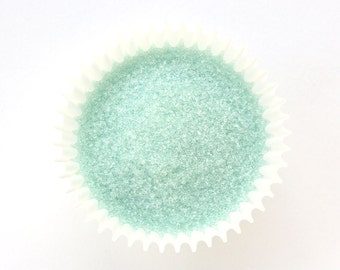 Pastel Green Sanding Sugar (4 ounces) for decorating cookies, cupcakes, cakes, cakepops