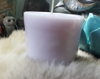 Unscented Ritual Candle/Crystals inside/Candle Magic/Blue Candle/Metaphysical Healing/Pagan Supplies/Wax Melting/Hoodoo Candle/Spell Candle