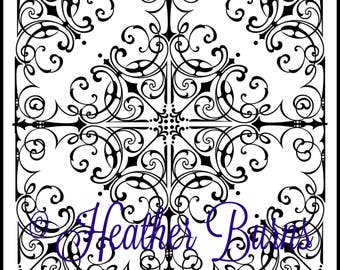 Coloring Page/Intricate Celtic Tile/Adult Coloring/Celtic Coloring/Colouring Page