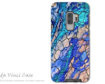 Blue Abstract Case for Samsung Galaxy S9 PLUS -  S 9 Plus Case with Art - Desert Memories - Dual Layer Case by Da Vinci Case
