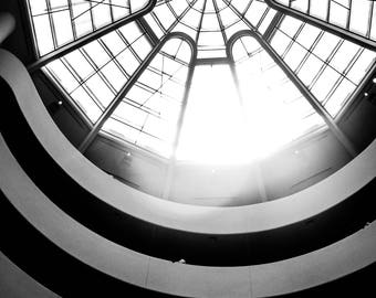 Guggenheim, NYC, Black and white photos, New York City, digital download