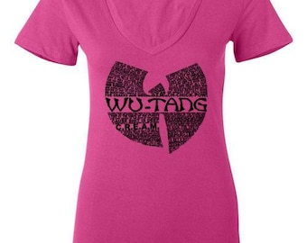 Wu-Tang Clan Lyrics V-neck