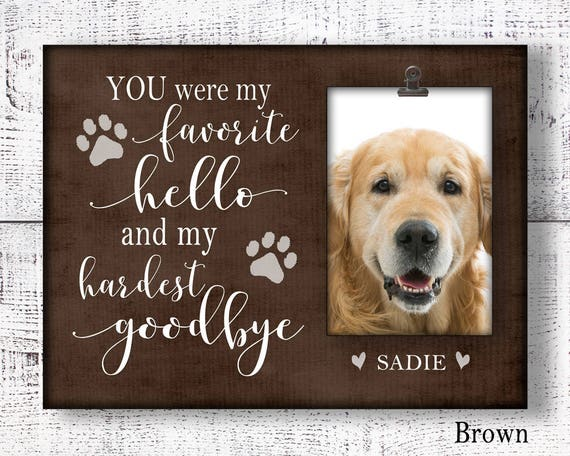 dog memorial picture frame for loss of pet, remembrance frame for ...