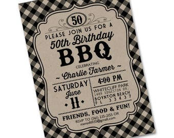 Birthday BBQ Invitation Birthday BBQ Invite Birthday Party Invitation Backyard BBQ Birthday Party Adult Birthday Birthday Barbecue Any Event