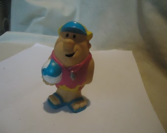 Vintage Beach Barney Rubble Rubber Toy, collectable