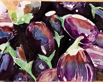 Eggplant Painting (print)