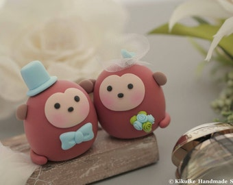 Monkey  wedding cake topper