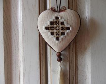ornamental heart hanging furniture, etc.