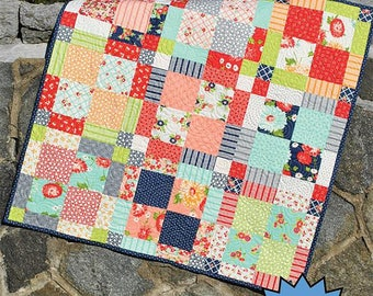 Family Ties Quilt Pattern - Sweet Jane's Quilting & Design #SJ-076- Charm Pack Quilt Pattern - Layer Cake Quilt Pattern