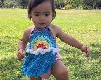 Rainbow Baby Halter Tank Top