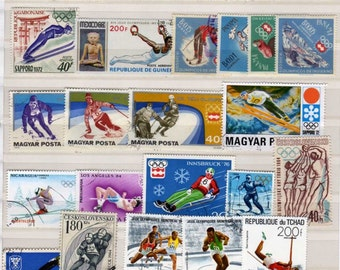 Olympic Stamps, 60, Olympic Postage Stamps, Sports Stamps, Sports Postage Stamps, Olympic Games Stamps, Worldwide Stamps