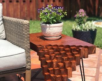 Custom Woodwork- Falling Blocks Table