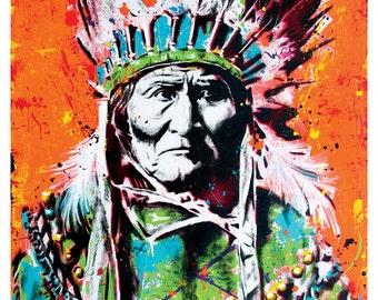 Geronimo - 18 x 24 High Quality Art Poster