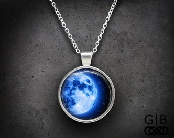 Blue Moon Necklace Blue Moon Jewelry Pendant - Blue Moon Pendant - Blue Moon Jewelry Necklaces Pendants - Moon Blue Necklace Moon Jewelry