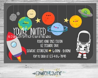 Space Birthday / Invitation / Printable
