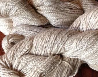 Light Caramel Alpaca Silk Yarn - 3 Ply Light Sport Weight