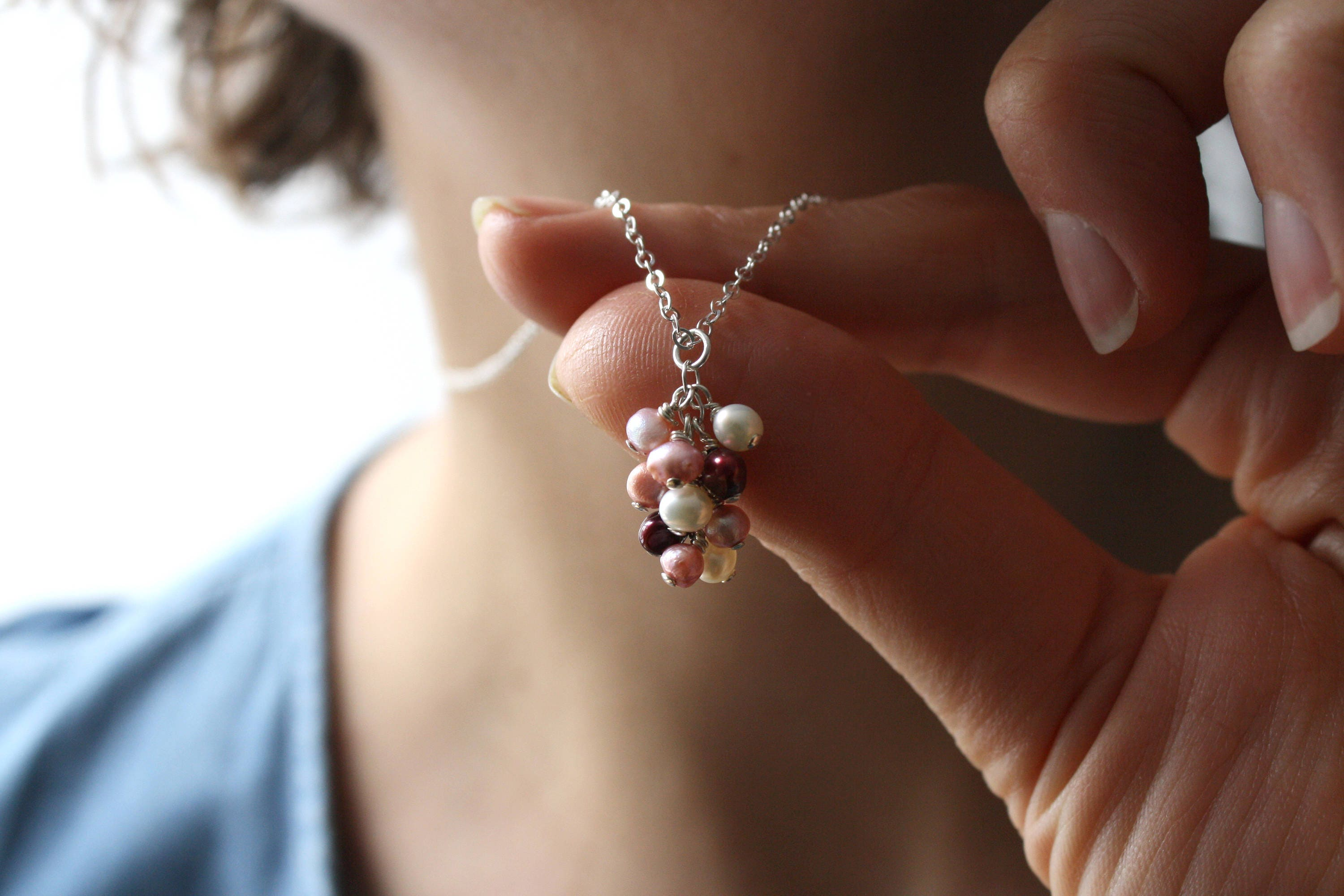 leaf hanging pearls frond medium a spinel clasp pink set with pendant image shop necklace silver pearl