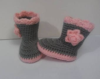 Crochet Baby Booties, Baby girl boots, Crochet Baby Boots, Crochet Baby Shoes, Baby girl booties, newborn boots, baby outfit, baby gift