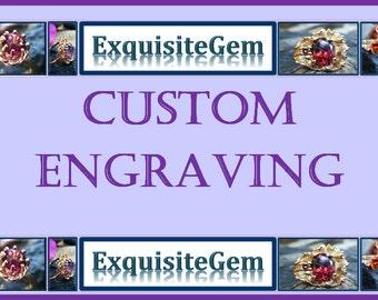 CUSTOM engraving, gold ring engraving service, silver engraving, engagement ring engraving, wedding band engraving, personalized engraving
