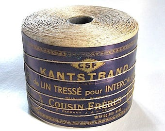pretty linen thread reel