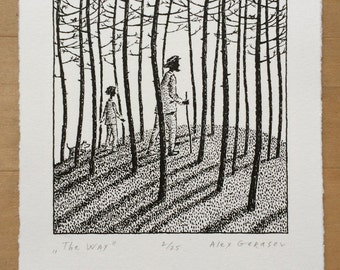The Way - Original Lithograph - by Alex Gerasev - Free Shipping