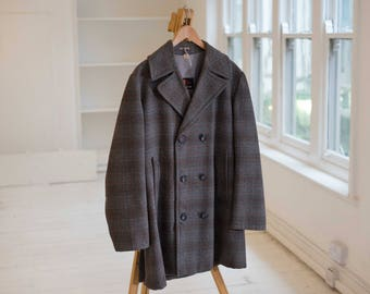 H.G Double Breasted Heavy Wool Overcoat