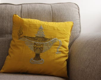 Yellow Genie Lamp Cushion