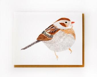 Field Sparrow Card