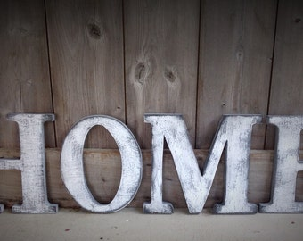 HOME, Barn Wood Letters measuring 10 inches tall, barn wood letters, rustic letters, rustic decor, rustic letter, home sign, home letters,