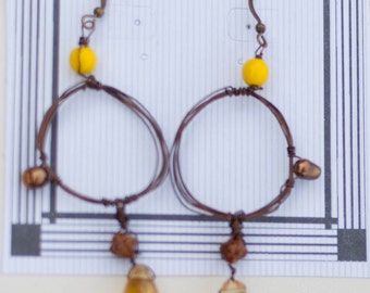 Yellow O-Ring Earrings