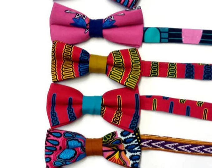 Pink Blue Dashiki African Print Pre-tied Wedding Groomsmen, Bridesmaids Bowties, Sibling, Friends, Shop Staff Bowties And Pocket Squares,