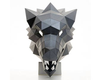 WOLF MASK | Printable template | DIY | Papercraft